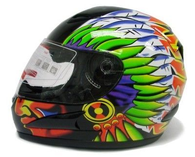INDIAN CHIEF FULL FACE MOTORCYCLE SCOOTER STREET SPORT BIKE HELMET ~M