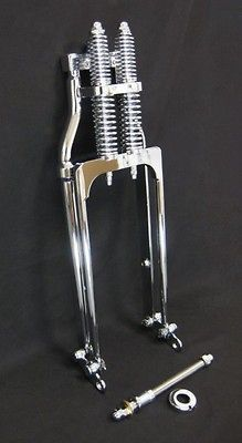 NEW DNA 24 STOCK LENGTH CHROME SPRINGER FRONT END Forks Bobber