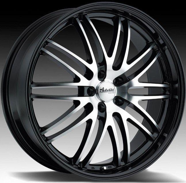 20X8.5 Advanti Racing Prodigo 5x120 +35 Black Rims Wheels FIT BMW 325
