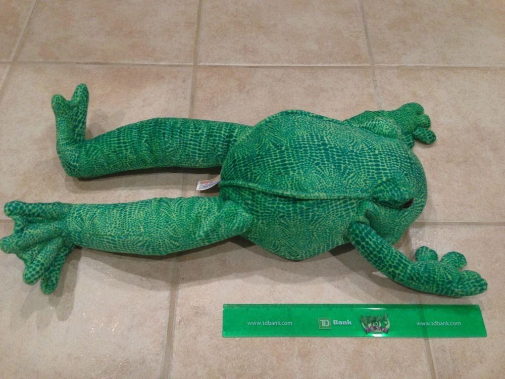 2000 Large 22 Animal Alley Stuffed Green Plush Frog