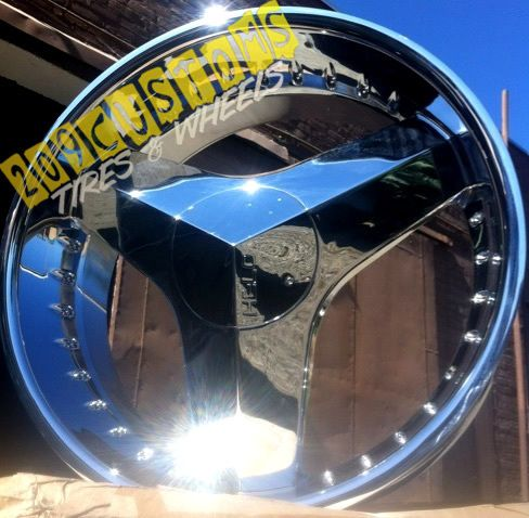 Limited 357 Chopper 3 Spoke Rims Wheels Tires Lincoln Town Car Caprice