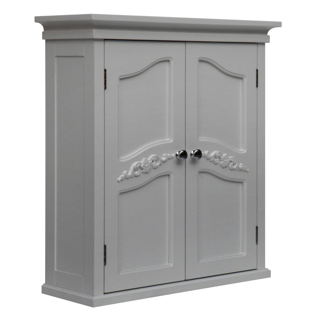 White 2 Door Bathroom Wall Cabinet Yvette Wall Cabinet With 2 Doors