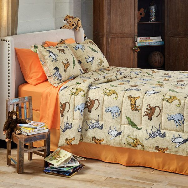 Wild Animals Twin Bed in Bag Comforter Set Boy Girl Bedding