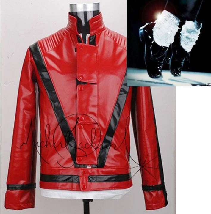 Michael Jackson Thriller Leather Jacket Free Billie Jean Gift