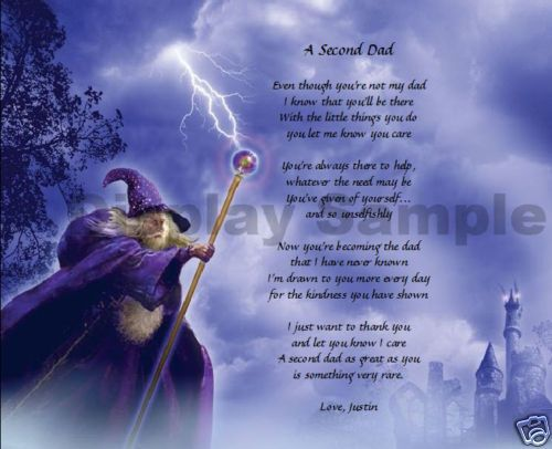 Second Dad Gift Personalized Poem Birthday Gift Idea Wizard