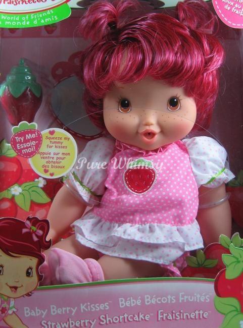 SRAWBERRY SHORCAKE BABY BERRY BLOW KISS KISSES DOLL 2007 MIB RARE NO