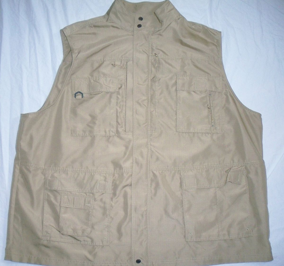 BOULDER CREEK Safari Hun Fish Hike Photog Shirt Top Jacket Vest 12 pkt