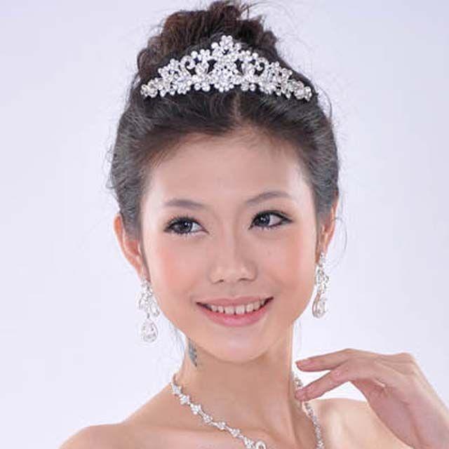 Bridal Butterfly Rhinestone Crystal Headpiece Crown Hair Tiara