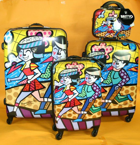 New Heys Britto Collection Spring Love 4 Piece Luggage Set