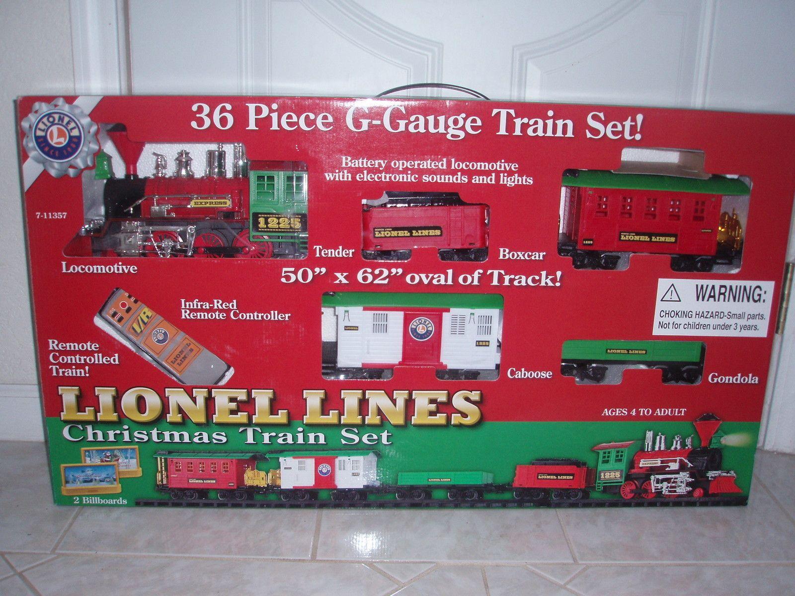 Lionel Christmas Train.Lionel Lines 36 Pc G Gauge Christmas Train Set Battery