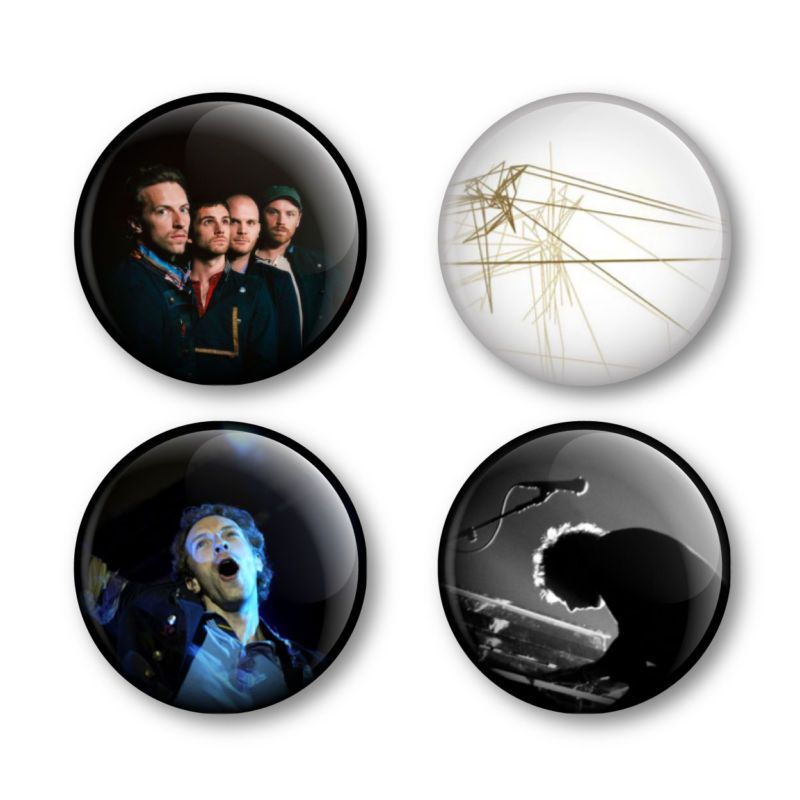 Coldplay Chris Martin Badges Buttons Pins Album Tickets
