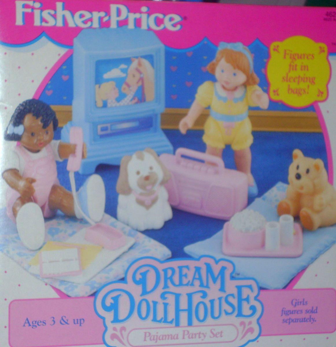 Fisher Price Loving Family Dream Dollhouse Pajama Party Set Nib