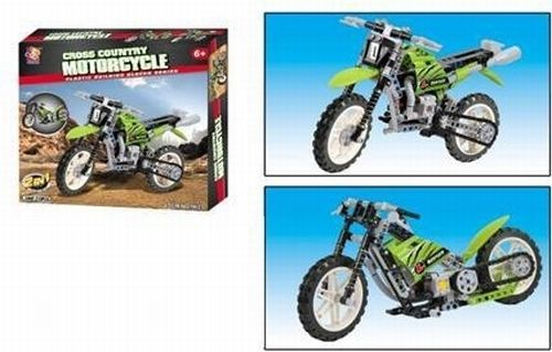 Bike Motorcycle Construction Toy and Chopper Street Bike Set