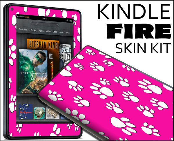 Kindle Fire Skin Vinyl Decal eBook Netbook Tablet 279 Paw Print
