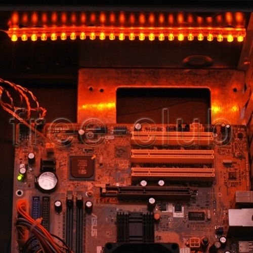 DIY PC Desktop Case LED Light Mod Kit Neon Golden Amber