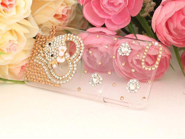 3D DIY Handmade Hello Kitty Bling Diamond Hard Case for Apple iPod