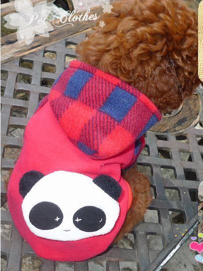 New Red Pet Dog Cat Clothes Knapsack Panda Dog Coat Apparel Pet