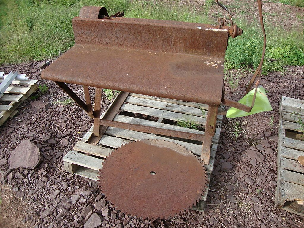 Old Buzz Saw Belt Driven