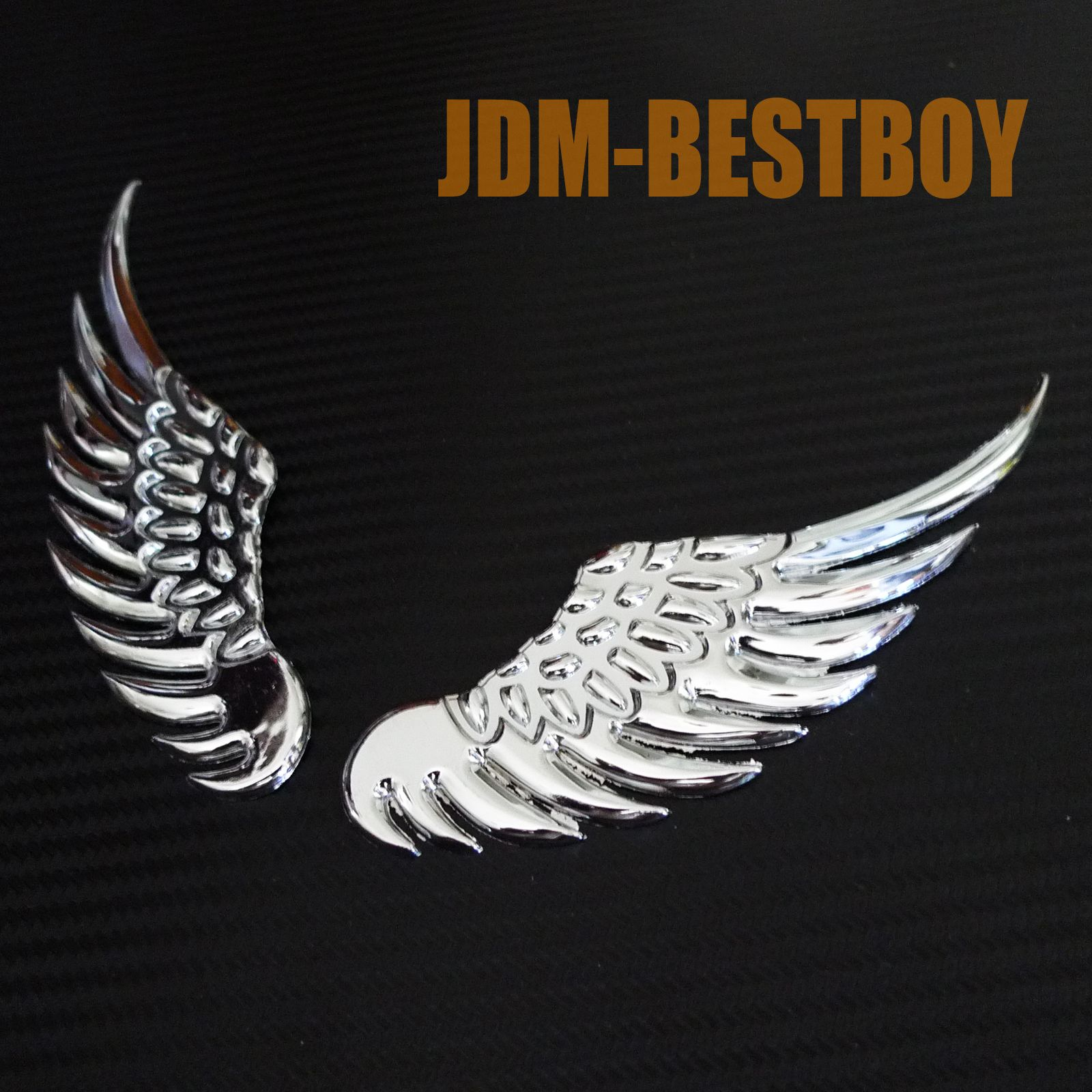 3D Chrome Metal Eagle Wing Logo Decal Sticker Car Auto Emblem Badge