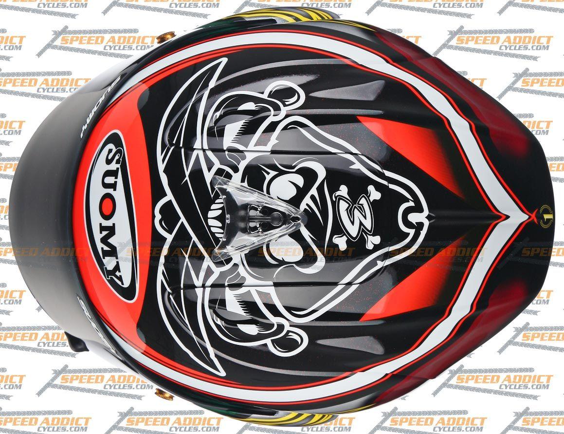suomy excel biaggi pirate full face helmet large retail value 599 95