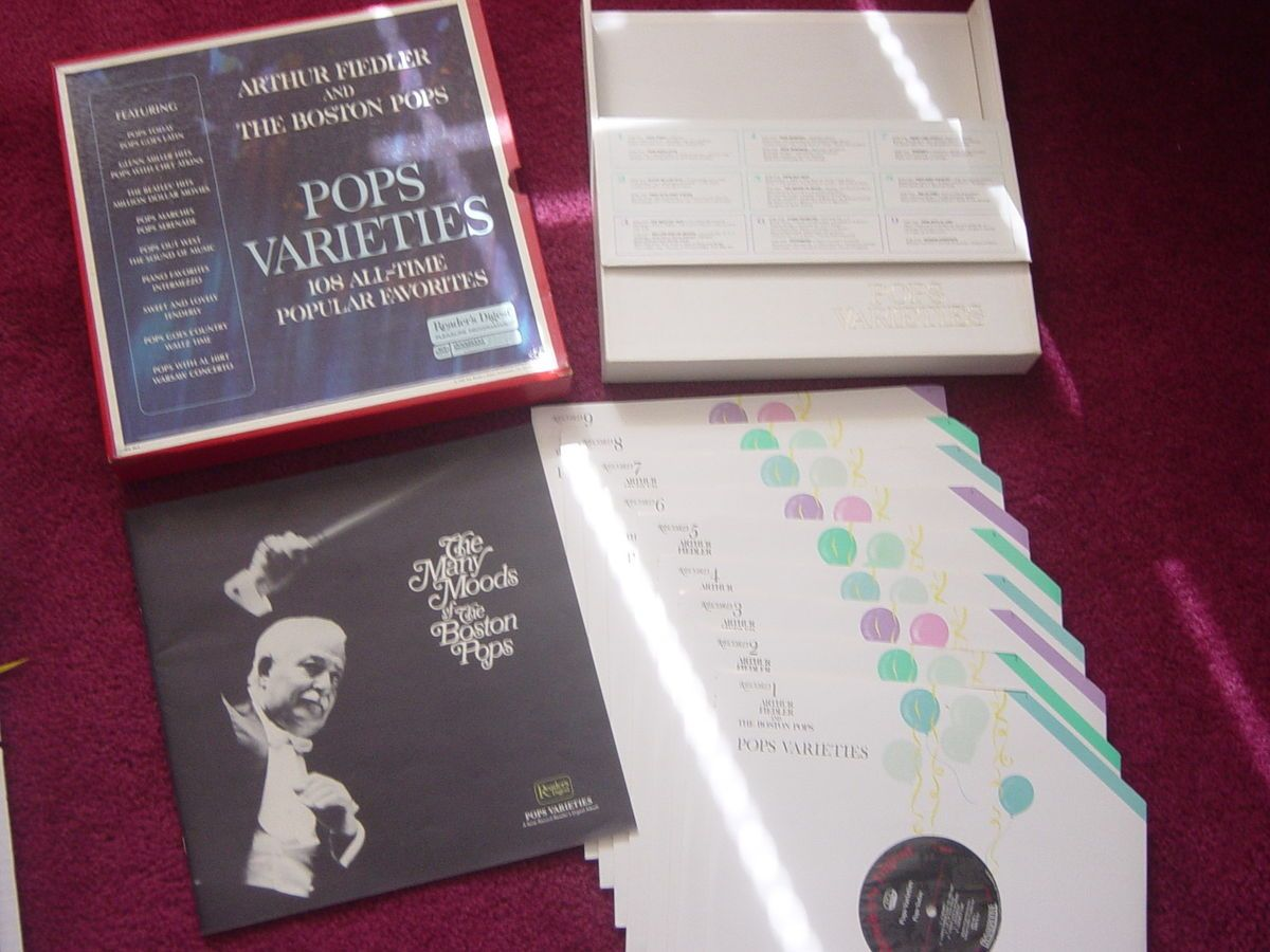 Arthur Fiedler Boston Pops Readers Digest 9 Records Vinyl Rare Vintage