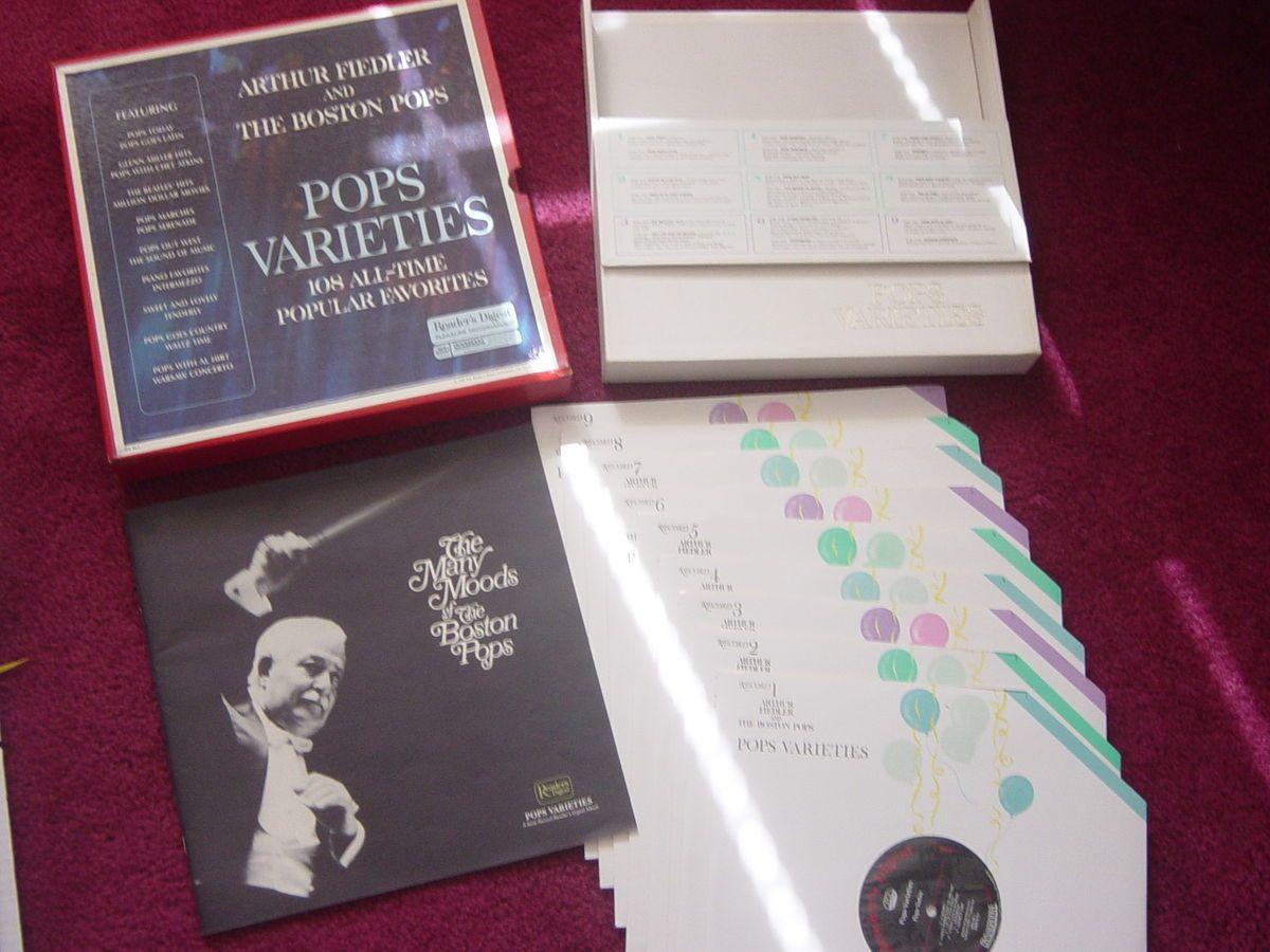 Arthur Fiedler Boston Pops Readers Digest 9 Records Vinyl Rare Vintage