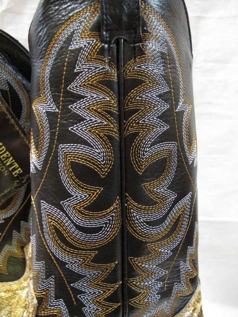 New Ladies Womens Sequins Fabolous Shiny Bling Western Cowboy Boots