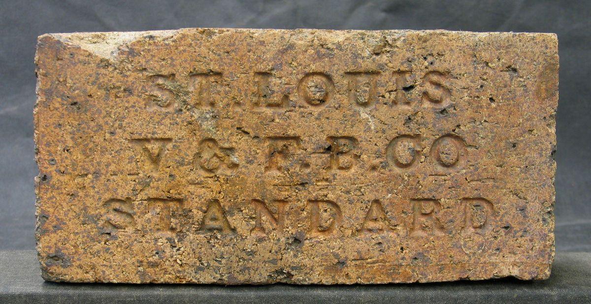 Old Fire Brick : Vintage st louis v f b co standard fire brick paver