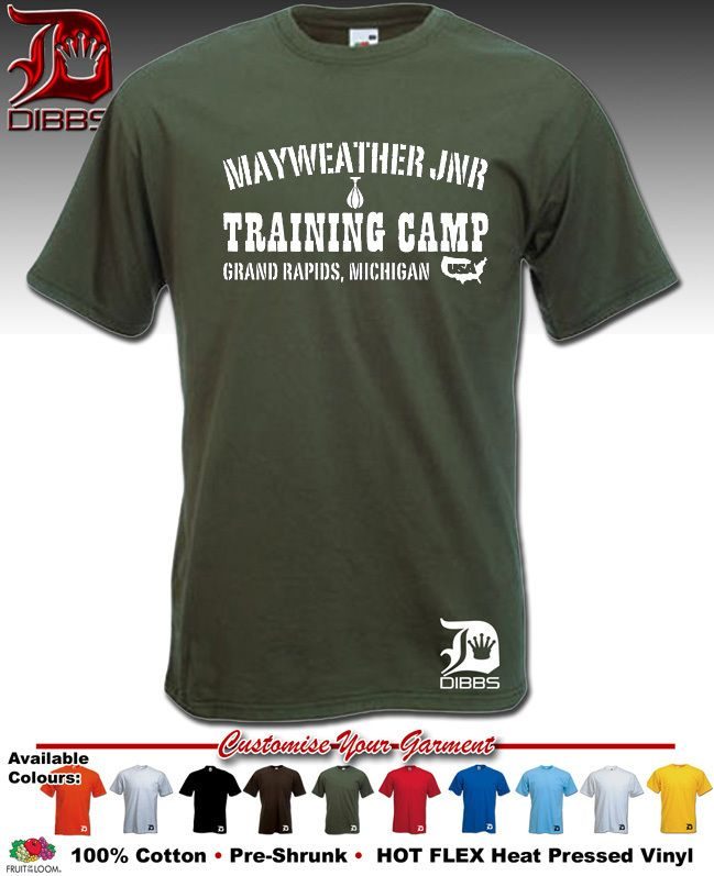 Floyd MAYWEATHER T Shirt Boxing Training Camp by Dibbs