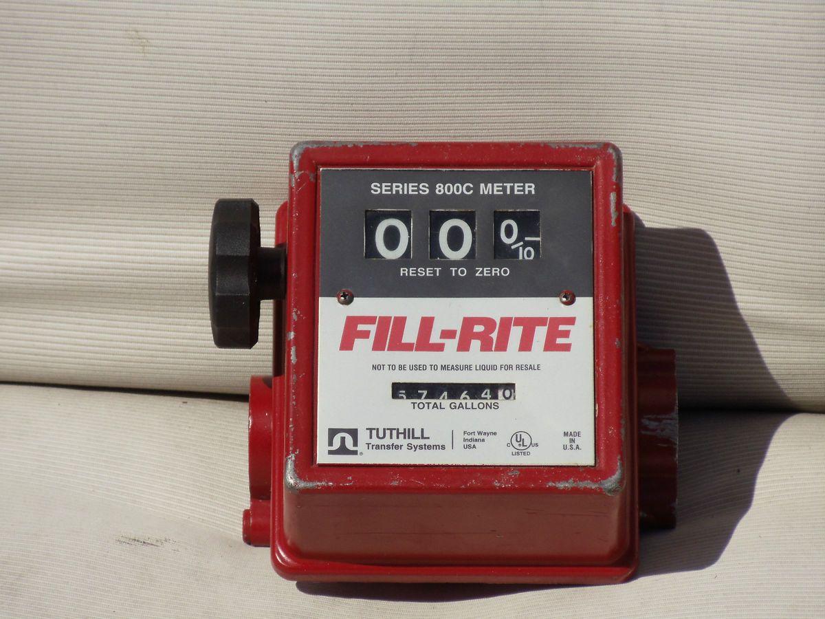 Fill Rite Series 800C Fuel Pump Meter Tuthill Gas Diesel Meter