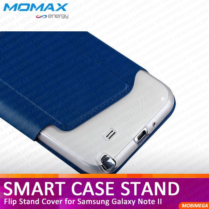 Momax Smart Case Flip Stand Cover Samsung Galaxy Note 2 II N7100 LTE