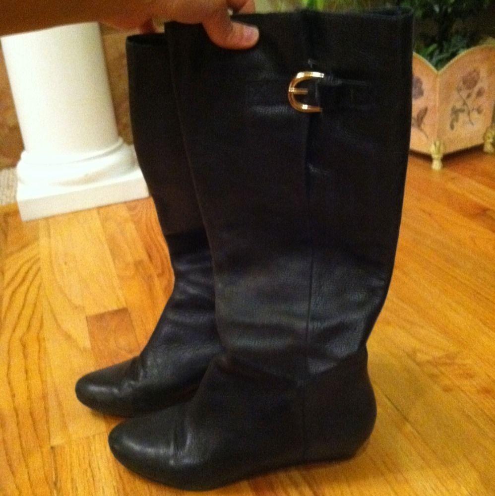 Steven Steve Madden Intyce Black Boots Size 7 5