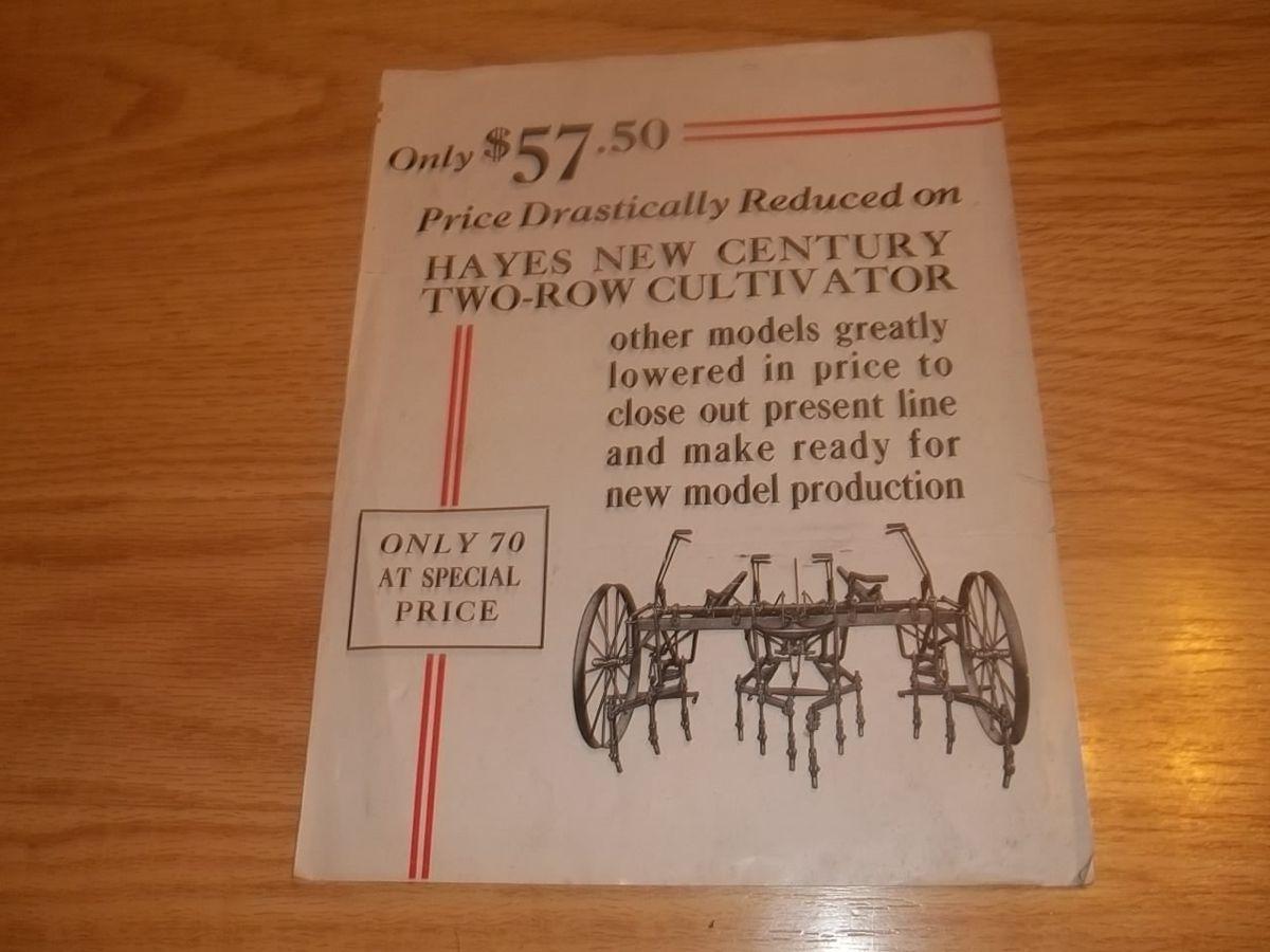 Vintage Hayes Pump Planter Galva Illinois Advertising Paper