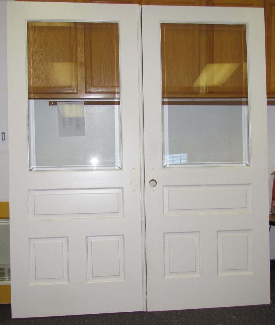 Contemporary Solid Interior French Doors Unfinished Pine Double