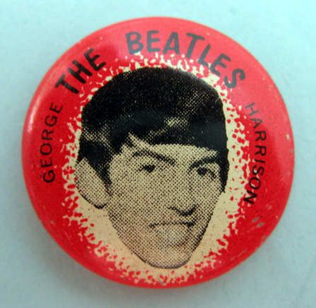 George Harrison Beatles 1964 Pinback Button Pin Badge 459