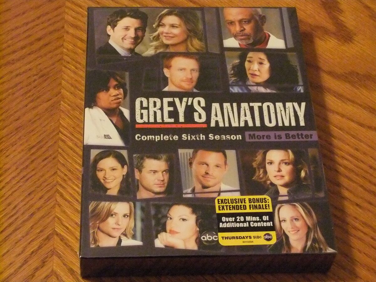 DVD New Greys Anatomy Season 6