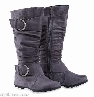 grey riding boots
