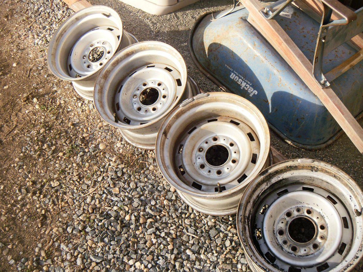 Chevy GMC Truck 15x8 Rally Wheels Rims 6 Lug C10 K10 4x4 Silverado