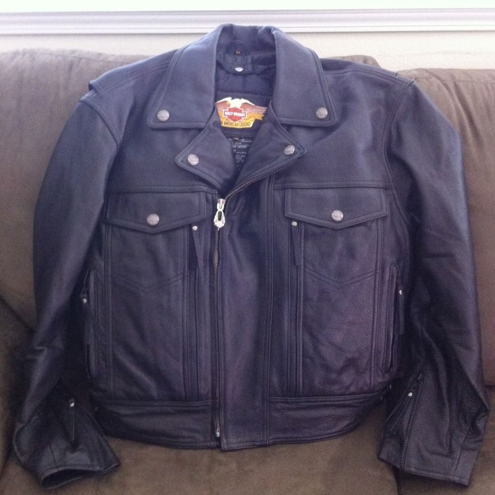 Harley Davidson Nevada Leather Jacket Mens Medium