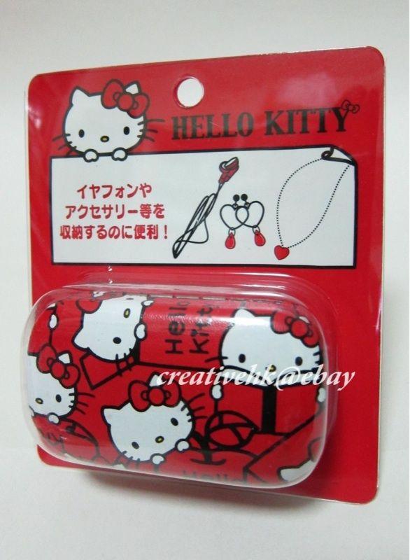 japan sanrio hello kitty red cell phone earphone case