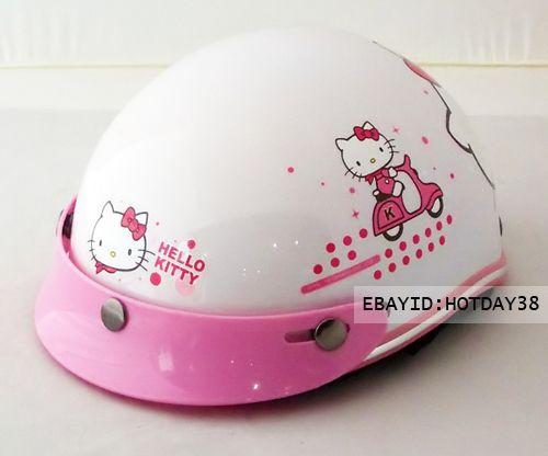 Hello Kitty Motorcycle Bicycle Bike Cartoon Helmet Children Kids Boys