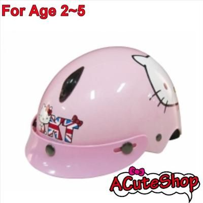 Hello Kitty Motor Bike Helmet Harley For 2~5 Old Kid Union Jack
