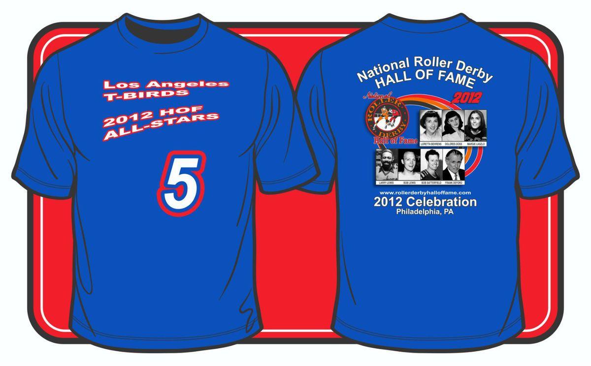 of Fame Blue T Birds 5 T Shirt Salute to HOFer Judy Sowinski