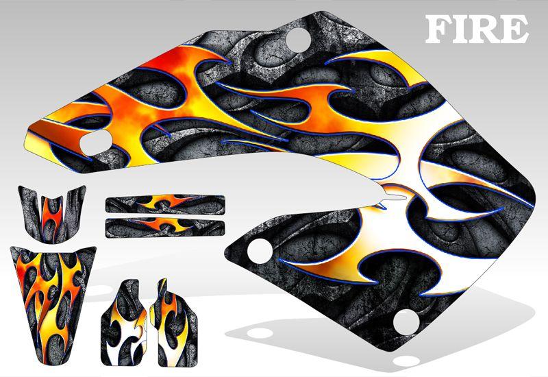 2002 2012 Honda CR 125 250 Graphics Kit MX Decal Sticker Fire Deco