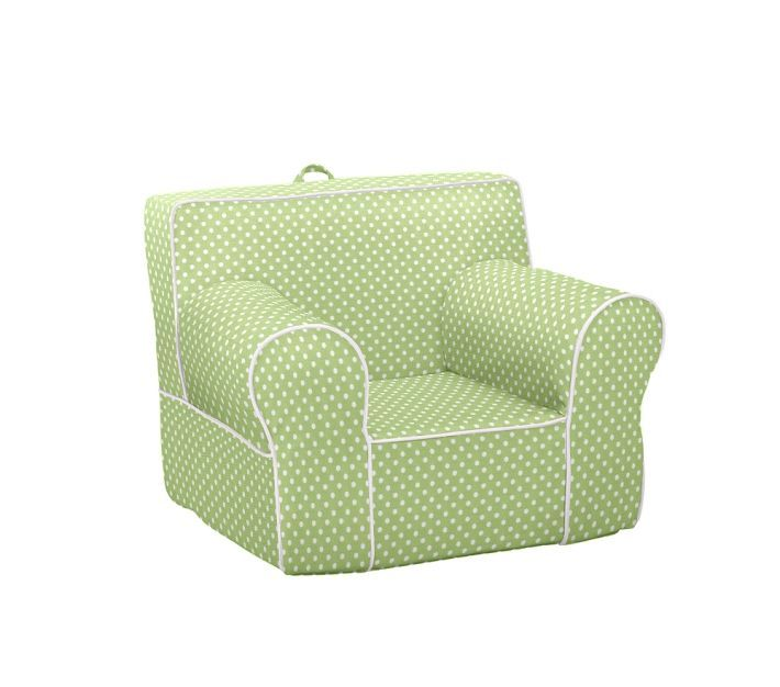 pottery barn kids regular anywhere chair slipcover green mini dot. Black Bedroom Furniture Sets. Home Design Ideas
