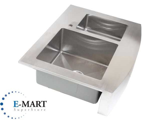 inch Stainless Steel Curved Front Farm Apron Double Bowl 60 40 Kitchen