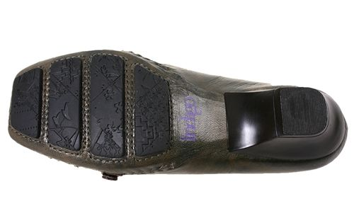 Indigo by Clarks Womens Shoes Envelope Olive Leather Heels 86294 Sz 6