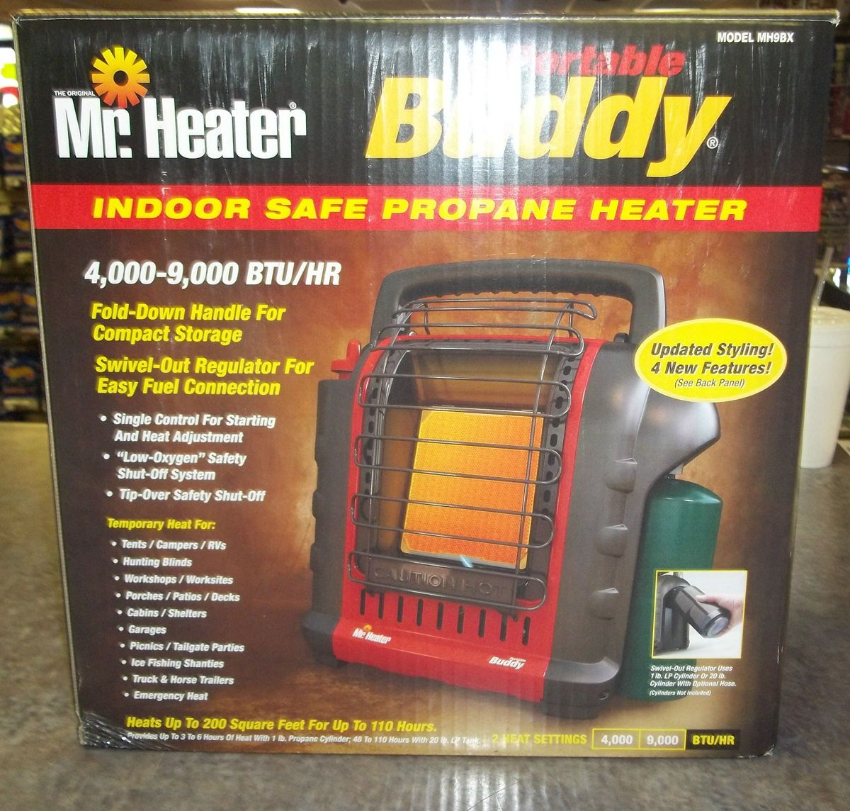 Mr Heater Portable Buddy Indoor Safe Propane Heater New