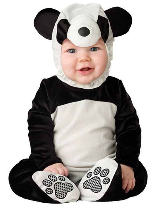 Baby Toddler Boys Girls Panda Bear Animal Onesie Halloween Costume