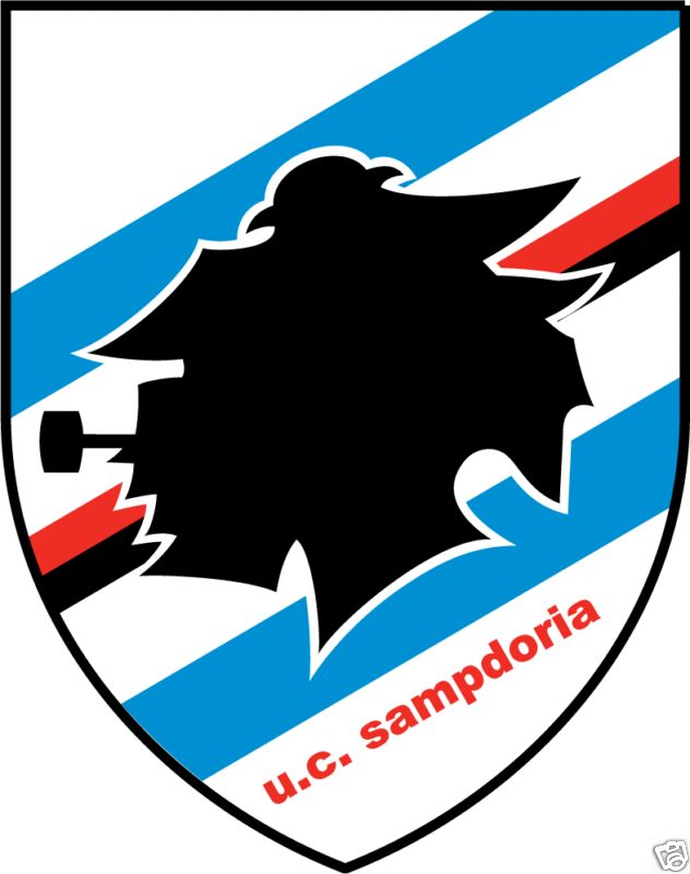 Sampdoria Italy Soccer Car Bumper Sticker 4X5